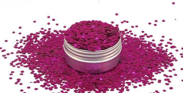 rosa scuro uber chunky, biodegradable glitter