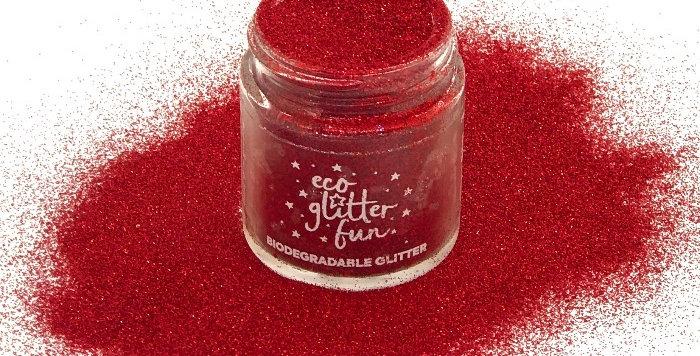 rojo standard, biodegradable glitter