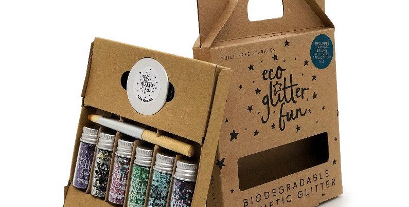 Boxed blends kit of biodegradable glitter