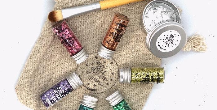 pastel uber disco set of biodegradable glitter