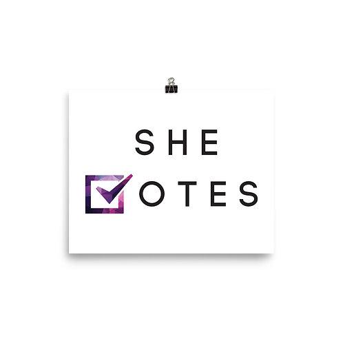 She Votes Poster