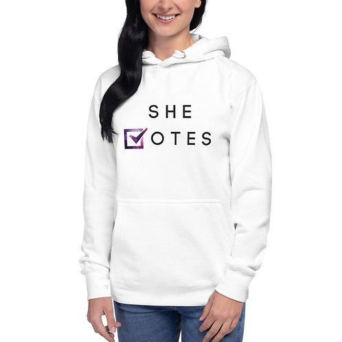 She Votes Unisex Premium Hoodie
