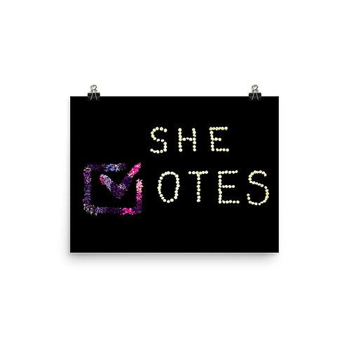 She Votes/Whit Hazen Poster Print