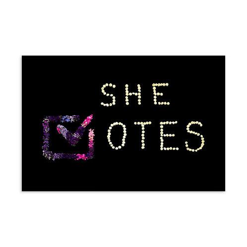 She Votes/Whit Hazen Postcard