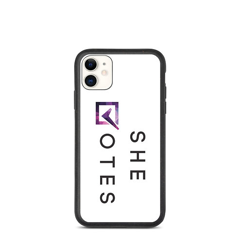 She Votes Biodegradable iPhone Case