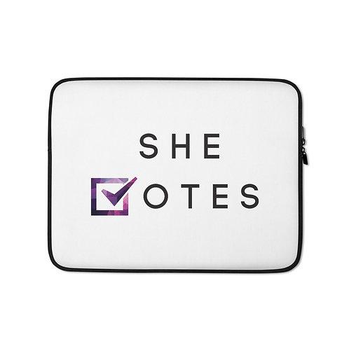 She Votes Laptop Sleeve