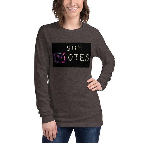 She Votes/Whit Hazen Unisex Long Sleeve Tee