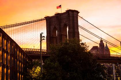 Brooklyn Bridge on Fire