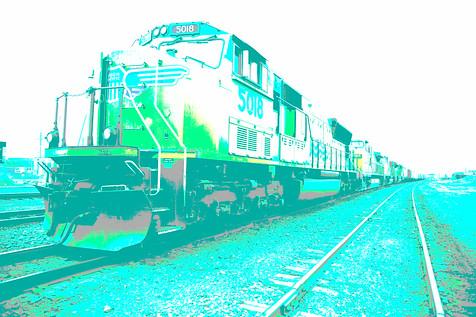 Train in Green