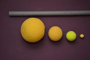 balle de tennis, mousse, magique, bâton