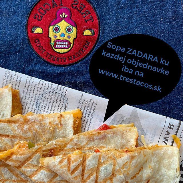 🌶Objednaj si obed cez www.trestacos.sk