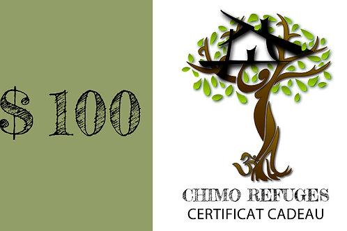 Certificat Cadeau $100