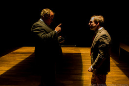 """Ross DeGraw and Michael Propster in Lasha Bugadze's """"Navigator in Love"""" (Isaiah Tanenbaum: Theatrical Photography)"""