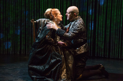"Joy Hermalyn and James Phillip Gates in ""Hamlet. A Version"" (Photo: Jeremy Daniel)"