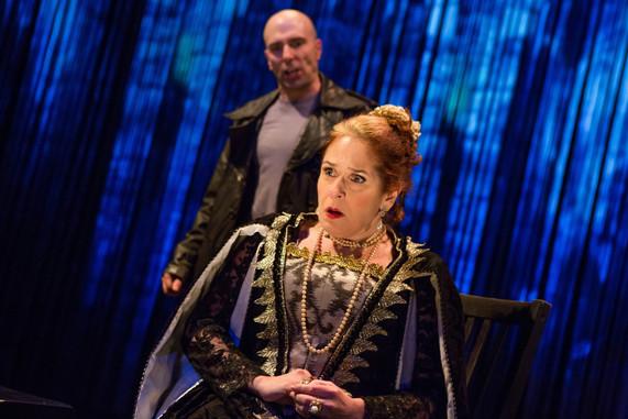 """Khris Lewin and Joy Hermalyn in """"Hamlet. A Version"""" (Photo: Jeremy Daniel)"""
