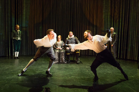 "Michael Sweeney Hammond and Matt Weiss in ""Hamlet. A Version"" (Photo: Jeremy Daniel)"