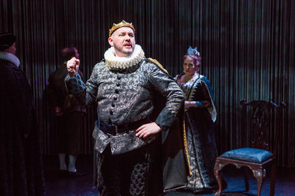 "James Phillip Gates and Joy Hermalyn in ""Hamlet. A Version"" (Photo: Jeremy Daniel)"
