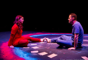 "Tara Giordano and Luke P. Younger in ""A Toy Gun"" by Tamar Bartaia (Isaiah Tanenbaum: Theatrical Photography)"
