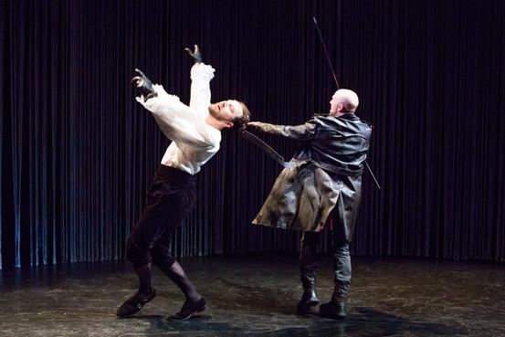 "Matt Weiss and Khris Lewin in ""Hamlet. A Version"" (Photo: Jeremy Daniel)"