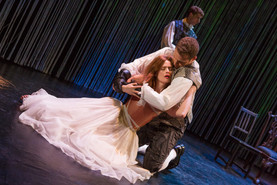 """Claire Brownell and Michael Sweeney Hammond in """"Hamlet. A Version"""" (Photo: Jeremy Daniel)"""