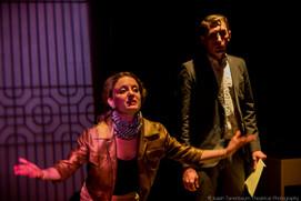 """Masha Dakic and Owen Scott in Lasha Bugadze's """"Navigator in Love"""" (Isaiah Tanenbaum: Theatrical Photography)"""