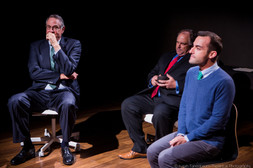 "Alan Altschuler, Ross DeGraw, and Brett Epstein in Lasha Bugadze's ""Navigator in Love"" (Isaiah Tanenbaum: Theatrical Photography)"