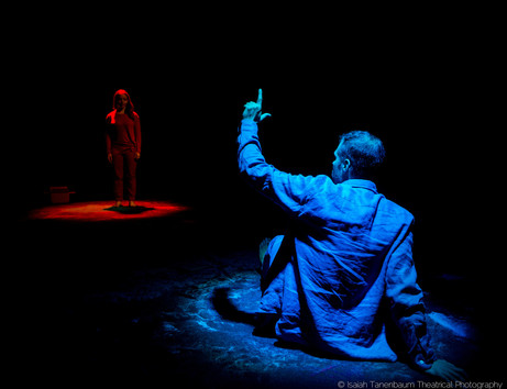 "Tara Giordano and Luke P. Younger in ""A Toy Gun"" by Tamar Bartaia (Isaiah Tanenbaum: Theatrical Photography)"