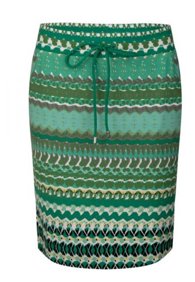 Esqualo Green Garden Print Skirt