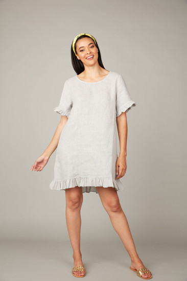 Pistache Ruffle Tunic Dress