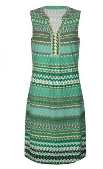 Esqualo Green Garden Print Dress