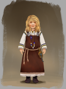 Viking child character