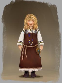 Viking child character