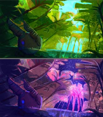 Game Scene - Day and Night Scene