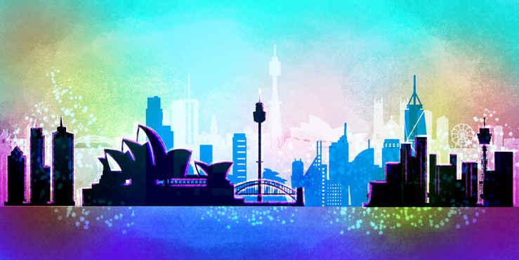 Concept Art Skyline Sydney for the World Cup 2019 in Qatar, Dubai