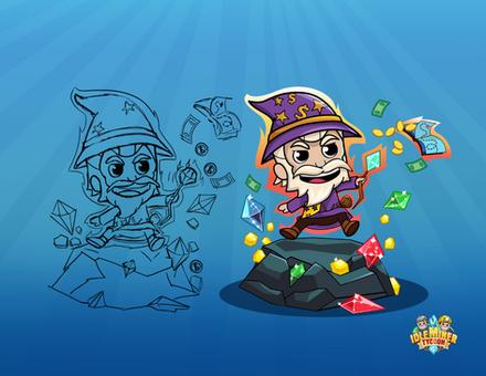 Super Manager Mr. Wizard - IdleMinerTycoon Game Art