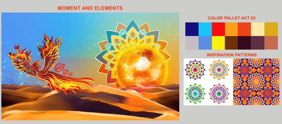 Color Palette Concept Art for the light show in Qatar World Cup 2019