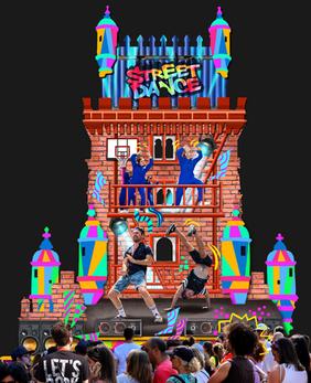 Street dance scene