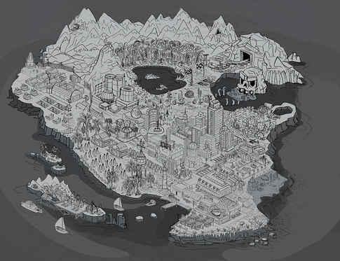 Map island sketch