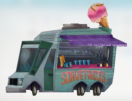Ice cream vehicle