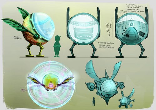 Time Machine Charcater Concept Art