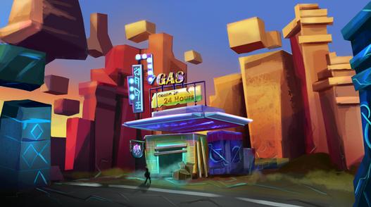 Radioactive Gas Station