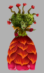 Alice in Wonderland - Red Queen/ Queen of Hearts. Concept art ideas for a light show in Lisbon. The idea was to create this characters and objects in lanterns.