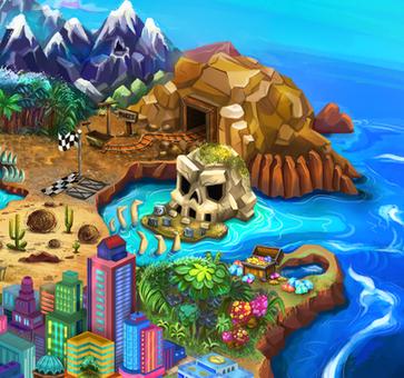 Map island - Detail