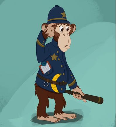 Police chimp