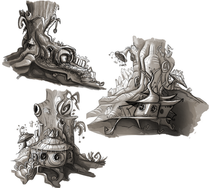 House Studies for a game set