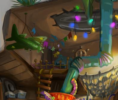 Inside Tree House - Detail