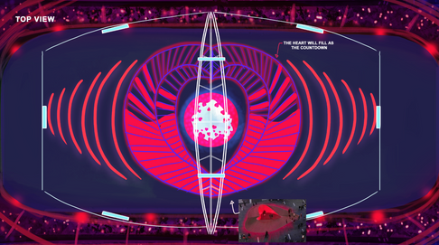 Stadium top view for the countdown moment. A Concept Art for the World Cup 2019 in Qatar, Dubai.