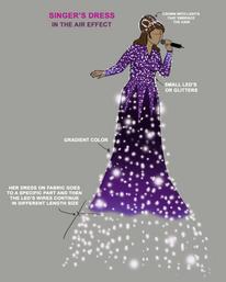 Singer's Dress Concept Art for the World Cup 2019 in Qatar, Dubai.