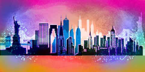 Concept Art Skyline NewYork for the World Cup 2019 in Qatar, Dubai