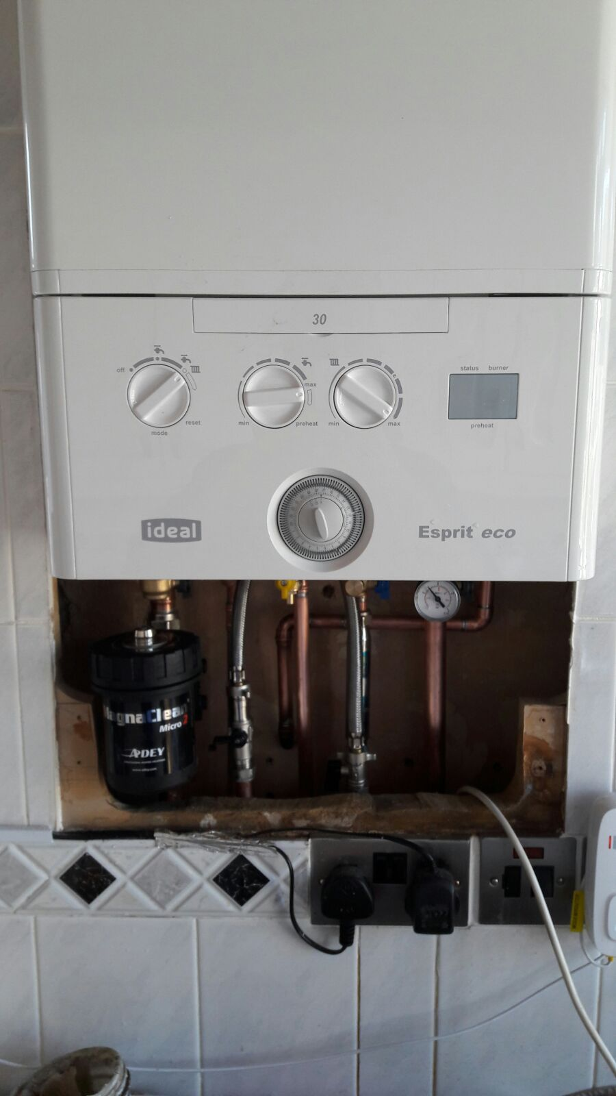 After boiler girton road pipework